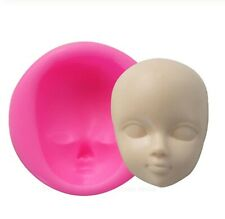 Baby Face Silicone Molds Craft Fondant Cake Decoration Gumpaste Doll Molds Resin
