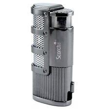 Torch Dominator Triple Jet Flame Butane Cigarette Cigar Lighter w Punch Cutter