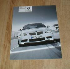 BMW M3 Brochure 2009 E90 Saloon E92 Coupe & E93 Convertible - 4.0 V8 - US Market
