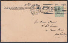 1905 London E CROWN R Bickerdike M/C on PPC