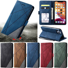 Splice Leather Wallet Flip Case Cover For iPhone 11 Pro Max X XR XS Max 7 8 Plus