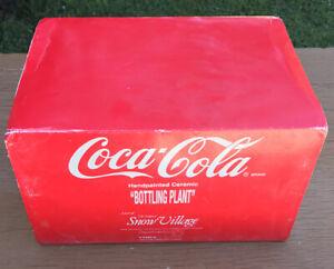 Dept 56  Snow Village Coca-Cola Bottling Plant 1994 #5469-0 Includes Box & Light