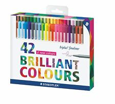 Staedtler Color Pen Set Set of 42 Assorted Colors (Triplus Fineliner Pens)