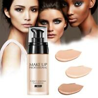 Full Coverage Liquid Foundation Makeup Whitening Waterproof Concealer Cream HOT