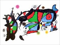 JOAN MIRO Obra de Joan Miro Offset Lithograph 18-1/2 x 24
