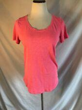 Victorias Secret Pink Open Back T-shirt Size XS Pink Short Sleeve C