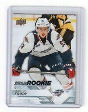 2018-19 CHL Hockey Star Rookie Card # 333 Jean-Luc Foudy Windsor Spitfires