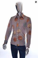 Donegal Vintage Mens Dragon Theme Stretchy Knit Long Sleeve Shirt - Size Medium