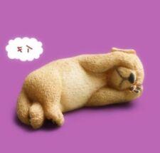 Japan zoo Lazy Sleeping Golden Retriever Dog PVC Mini Figurine Figure model
