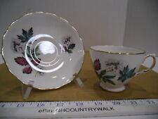 Royal Vale English Bone China Floral Tea Cup & Saucer Set - Euc