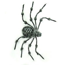 "Gray Hairy Wolf Spider skeleton Tarantula Halloween Party Decoration Prop 36"""