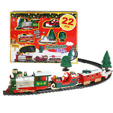 Kids Train Set Christmas Toy Play Classic Battery Operated Track Sounds Lights
