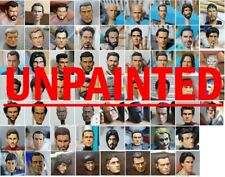 10 X  CUSTOM unpainted heads to use  WITH 1:18 FIGURES