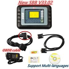 New SBB V33.02 Car Key Maker Remote Programmer Immobilizer Multi language Set