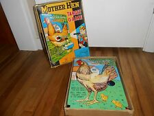 Vintage Mechanical Mother Hen Target Game Display Tin Toy Old in Original BOX
