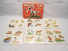 ANIMAL FUN GAME,  WARREN PAPER CO., NO. 826, A BUILT-RITE TOY, AGE 3 TO NINE