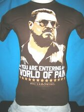 "The Big Lebowski ""YOU ARE ENTERING A WORLD OF PAIN""  Mens T-shirt FREE SHIPPING!"