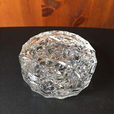 Vintage Two Piece Candy Trinket Dish Crystal Clear Cut Glass Elegant Luxury