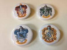 Set of 4 Harry Potter House Emblems Gryffindor Hufflepuff 1.25 in Pin Button