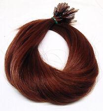 Strähnen indische Remy Echthaar Haarverlängerung great 50cm hair lenght rotbraun
