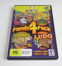 Family 4 Pack Card & Board Games 3 / Ludo / ... - PC - CD - 2004 - edc