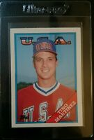 1988 TOPPS TRADED #66T TINO MARTINEZ ROOKIE CARD RC TEAM USA MINT