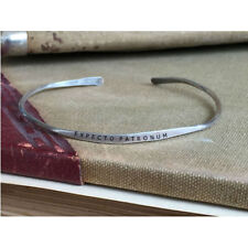 EXPECTO PATRONUM - Hand Stamped Cuff Thin Stacking Bracelet Personalized Custom