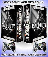 XBOX 360 COD BLACK OPS 2 CONSOLE STICKER SKIN GRAPHICS & 2 CONTROLLER SKINS