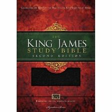 King James Study Bible by Thomas Nelson Publishing Staff (2013, Leather,...