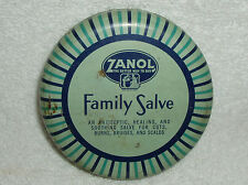 UNUSUAL Vintage~1940's ZANOL FAMILY SALVE Tin Can With Salve Still There, NICE!