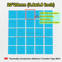 20pcs 3M 8810 20x20mm Blue Thermal Double Sided Adhesive Transfer Heatsink Pads