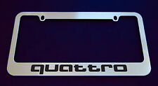 AUDI QUATTRO LICENSE PLATE FRAME, CUSTOM MADE OF CHROME (Zinc Metal)