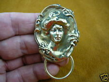 (#E-400) Lady hair ribbon Eyeglass pin pendant ID badge holder
