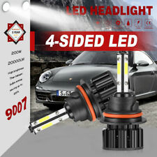 Pair 4-Side 9007 HB5 LED Headlight Kit HI-LO Dual Beam Bulbs Lamp 6000K 2500W US