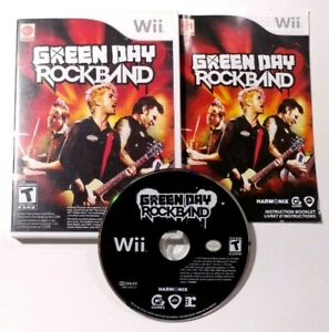Green Day: Rock Band (Nintendo Wii, 2010) COMPLETE CIB Tested & Cleaned!