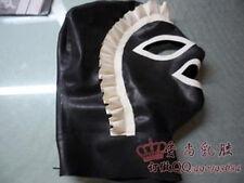 100% Latex Gummi Rubber Maid Mask Hood 0.45mm With Trim Uniform Catsuit Unique