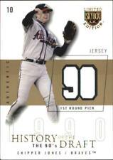2004 Skybox LE History Draft 90's Jersey Gold Baseball Card #CJ Chipper Jones/10