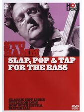 Hot Licks Stu Hamm Slap, Pop et robinet pour la basse Learn to Play Guitar Music DVD
