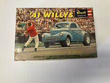 Vintage ,Revell 1:25 ,1941 Willys : Customizing Authentic Kit ,Open Box , used