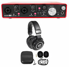 Focusrite SCARLETT 2I4 MK2 192kHz USB Audio Recording Interface+Free Headphones