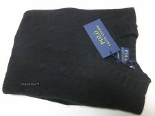 $398 NWT polo Ralph Lauren soft 100% cashmere Italian Yarn cable sweater Black M