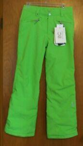 16 Spyder Vixen Insulated Girls Snowboard Ski  Snow Pants NWT Neon Green Winter