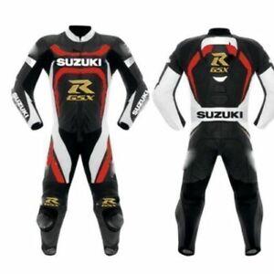 Suzuki GSXR Carreras Cuero Hombres Motocicleta Protegido Armadura Traje