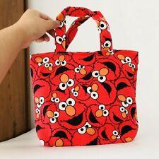 sesame street red anime handbag hot lunch box bag storage tote recycle bag