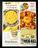 Vtg 1949 Niblets Mexicorn Green Giant Veg All vegetables advertisement print ad