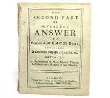 Second Part Mr Claude's Answer to Monsieur de Meaux JEAN CLAUDE Jacques Bossuet