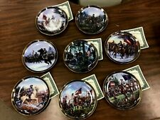 Bradford Exchange Gallant Men Of The Civil War Collector Plate Complete Set Of 8