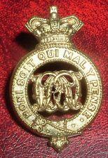 CAP BADGES-ORIGINAL BOER WAR GRENADIER GUARDS PAGRI BADGE