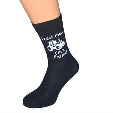Trust me I'm a Farmer with Tractor Image Mens Socks