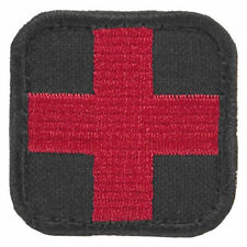 Condor Army Tactical Paramedic Medical Medic Morale Patch Black Red Cross